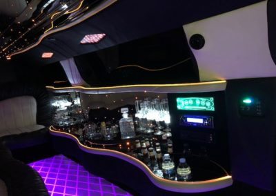 full bar in limo