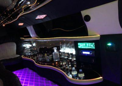 full bar in limo