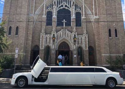 limo at church