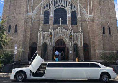 limo at church