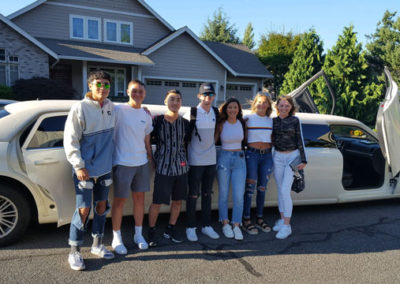 Group in limousine vancouver wa